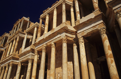 The theatre at Sabratha on the Libyan coast