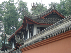 Rooftops of the Wenshu Temple in Chengdu