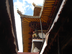 Detail of the roofing running around the Jokhang Temple