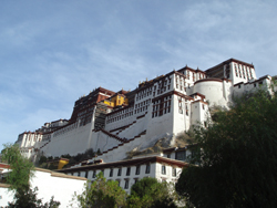 Façade of the Potala Place in Lhasa, Tibet