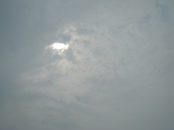 The bit of the eclipse we managed to see through the clouds
