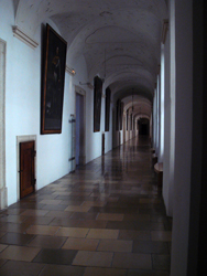 Imperial corridor at the entrance to Melk Abbey