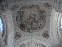 Cieling in the Greek Catholic Church of St Mark in Salzburg.