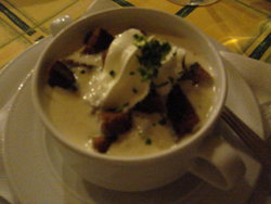 Garlic soup at the historic Melker Stiftkeller in Vienna