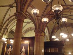 Interior of the Cafe Central - a famous literary hangout in Vienna
