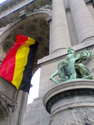 Arcade du Cinquantenaire near the EU district in Brussels