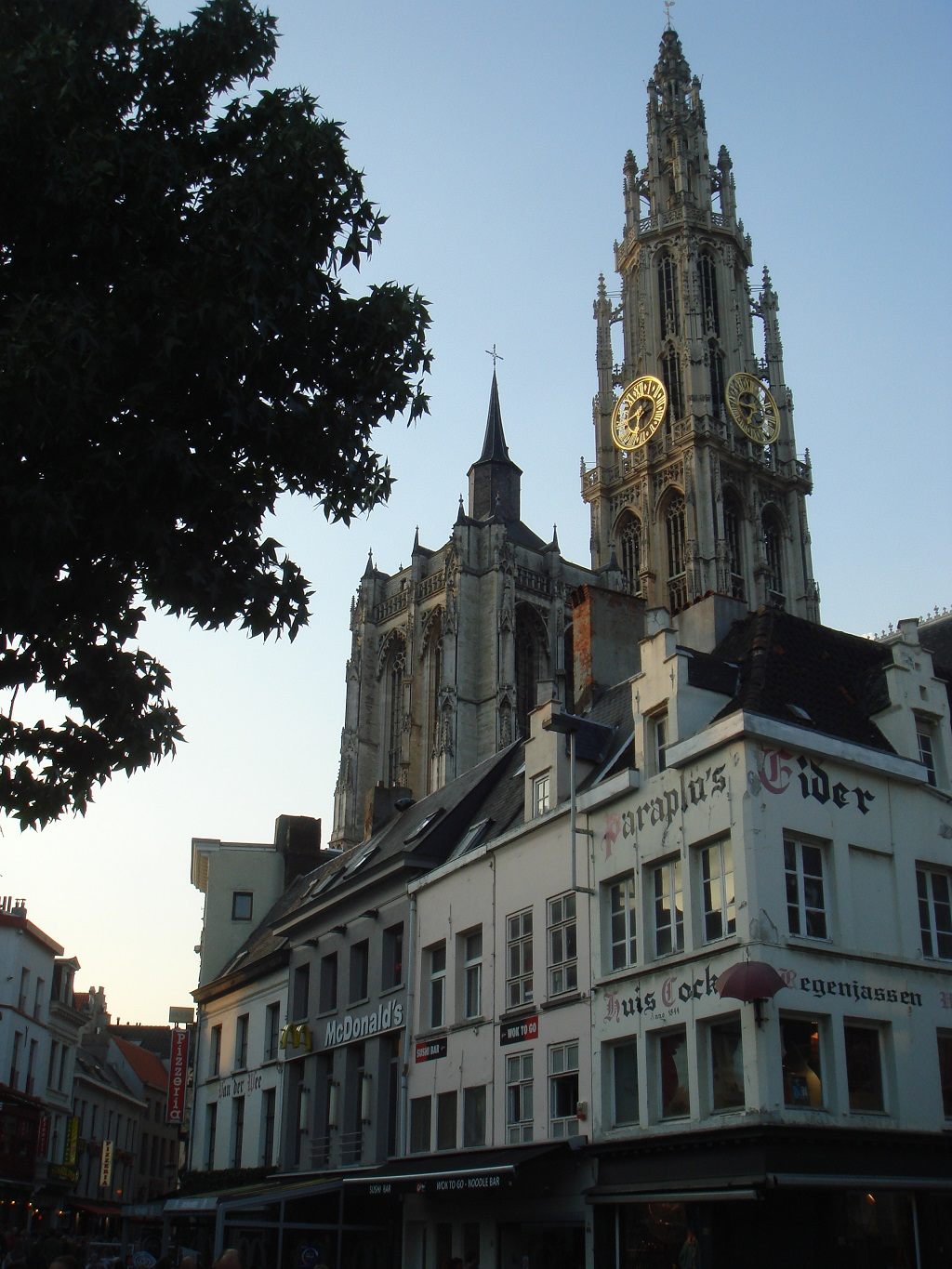 View of the Cathedral from Groenplaats