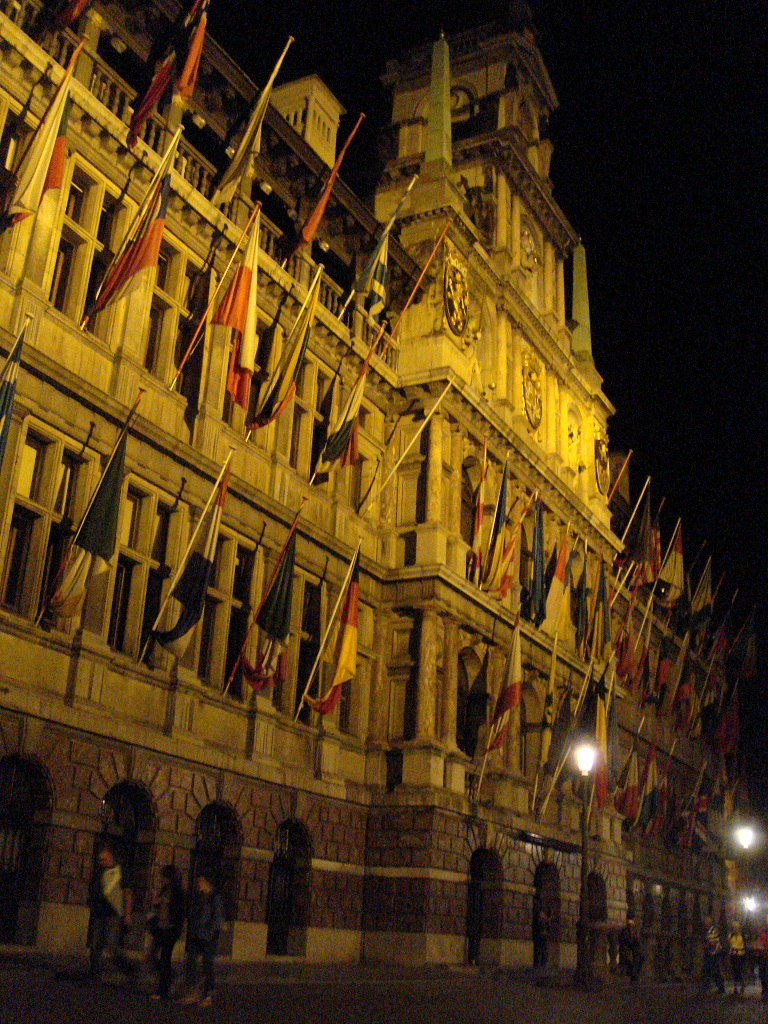 Façade of the Stadhuis in the the Grote Markt in Antwerp