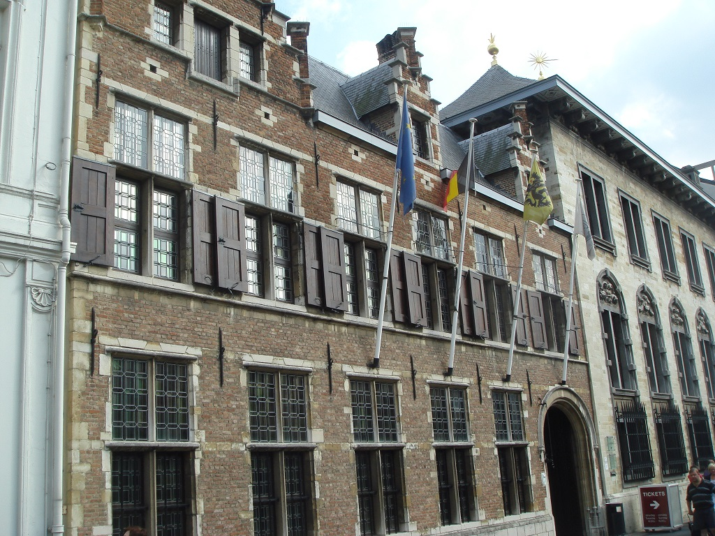 Façade of Rubens Houses in Antwerp
