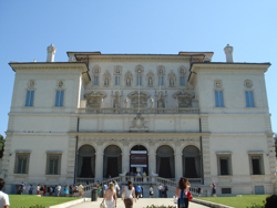 View of the exterior of the Villa Borghese