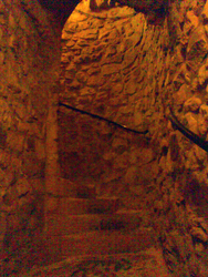 Stairs inside the Bock Casemates in Luxembourg