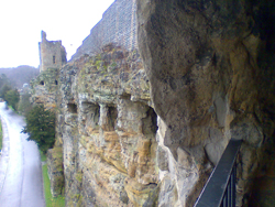 Exterior wall of the Bock Casemates in Luxembourg