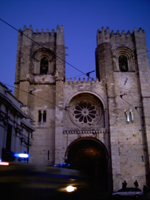 The Se Cathedral in Alfama in Lisbon, Portugal