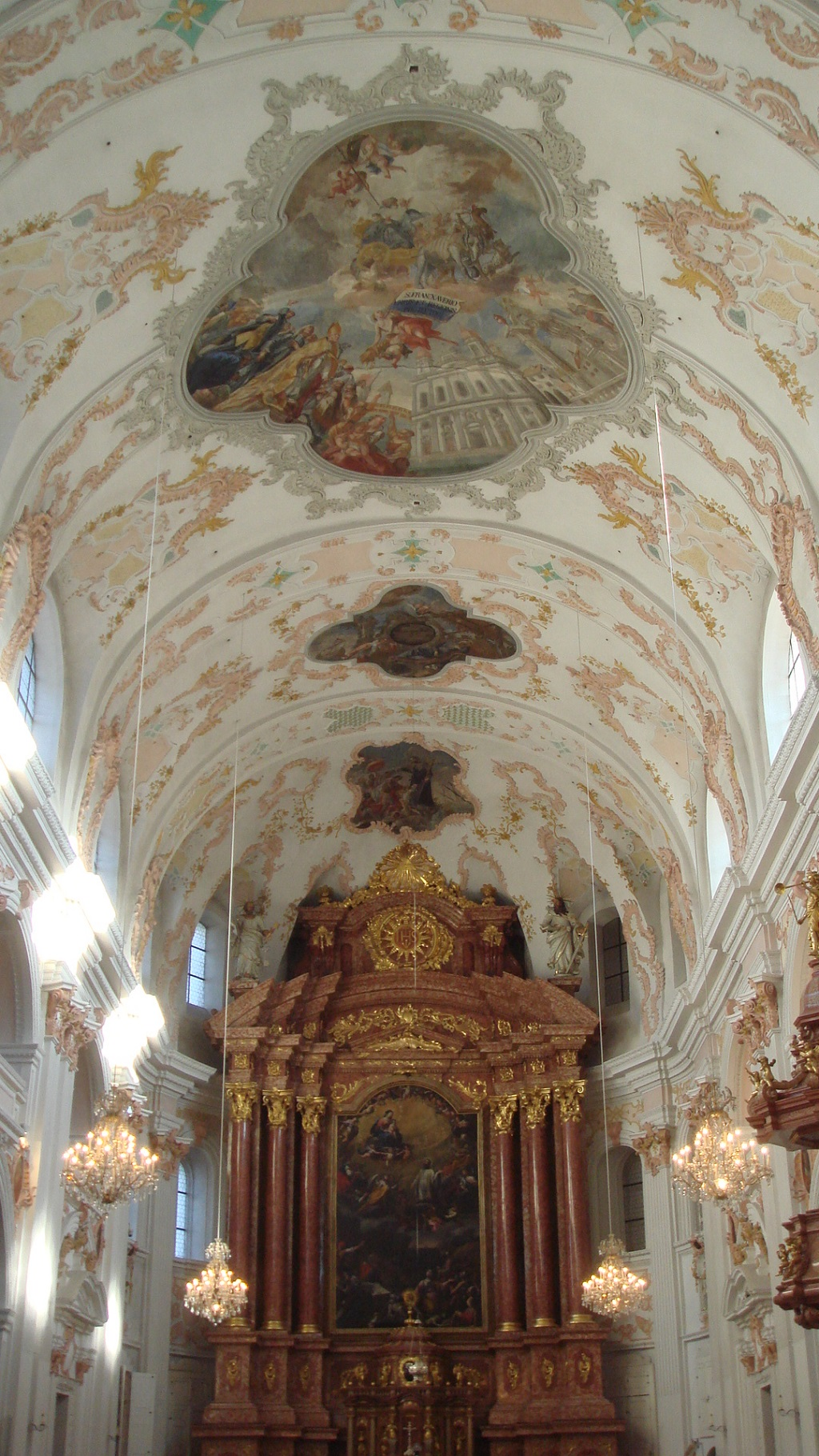 Interior of the Jesuit Church in Lucerne