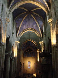 Interior of the Collegial Church in Neuchâtel