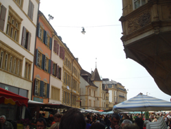 Market at the Places des Halles in Neuchatel