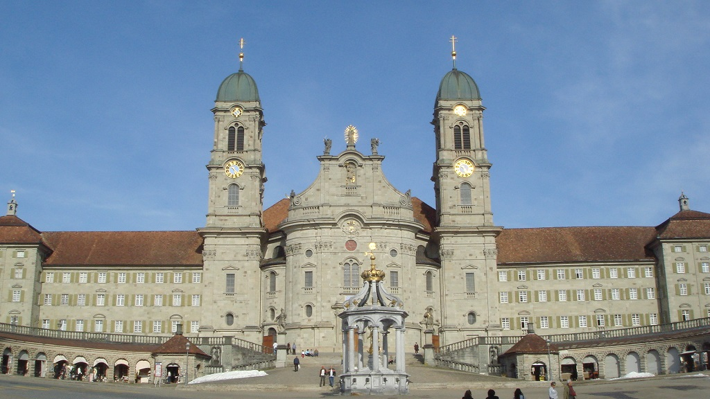 Façade of the Kloster Einsiedeln