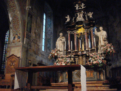 Alter in the Cathedral of San Lorenzo in Lugano, Ticino, Switzerland