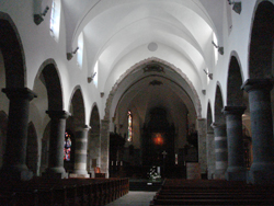 Interior of the church at the Abbey of Saint Maurice