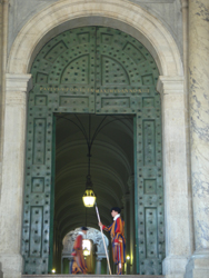 Swiss Guards at the Basilica of St Peter in the Vatican City