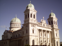 Basilica-style Catholic Cathedral in Christchurch, South Island, New Zealand
