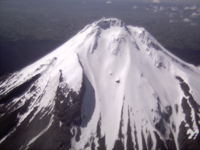 Aerial view of Mount Taranaki / Egmont from New Plymouth / Christchurch flight