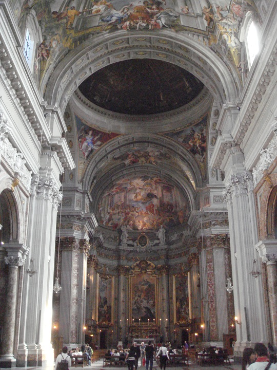 Rome - interior of St Ignatius Church