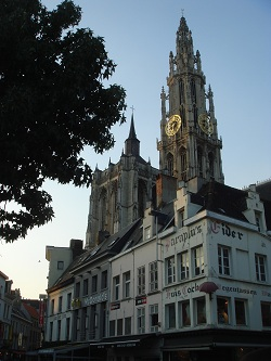 Antwerp - the Cathedral seen from Groenplaats