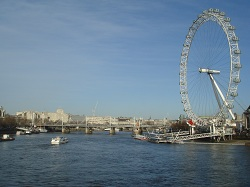 London - view of the Thames and the London Eye