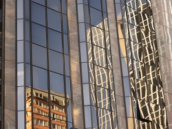 Wellington - reflections in the windows of the Intercontinental Hotel