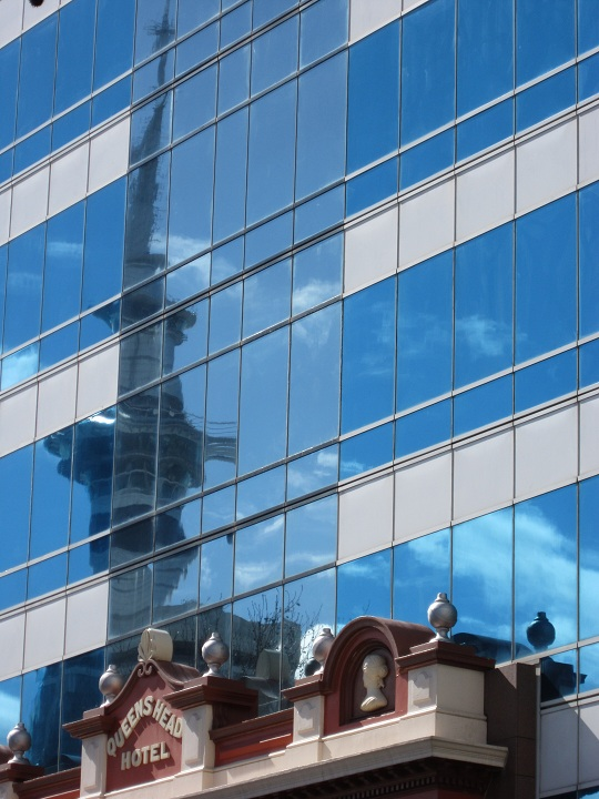 Auckland - reflection of Sky Tower