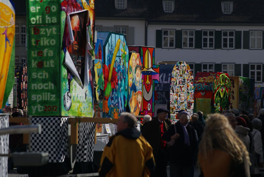Basel Fasnacht - display of Fasnacht lanterns