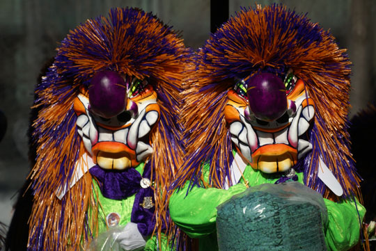 Basel Fasnacht - pair of Waggis