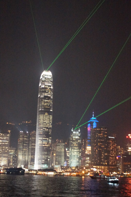 Hong Kong - light display