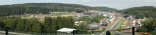 Spa Francorchamps - the view from Eau Rouge