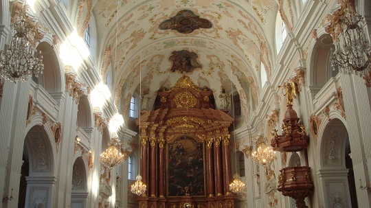 Lucerne - interior of the Jesuit Church